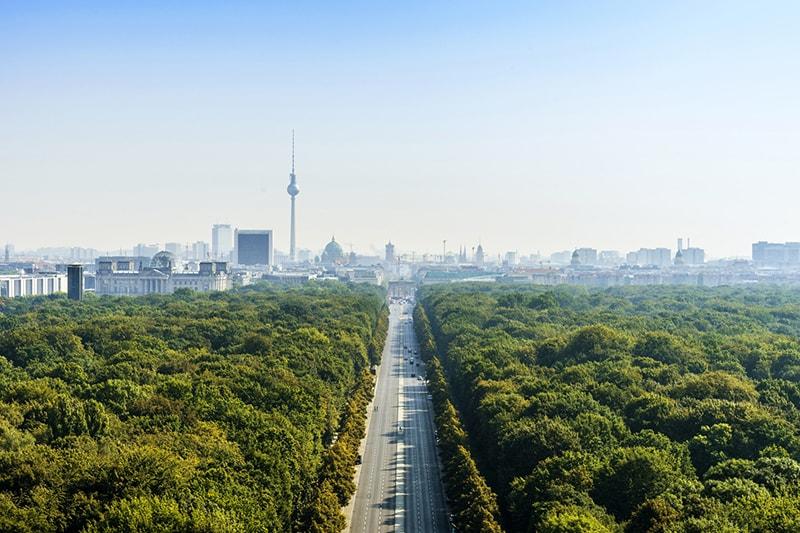 Blick auf die Stadt Berlin